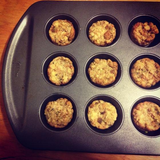 Mini Stuffing Muffins