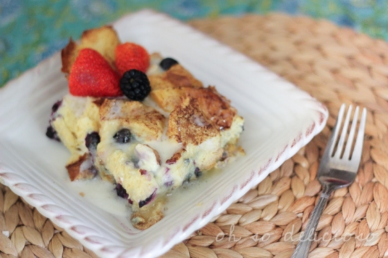 Maple Blueberry French Toast Casserole