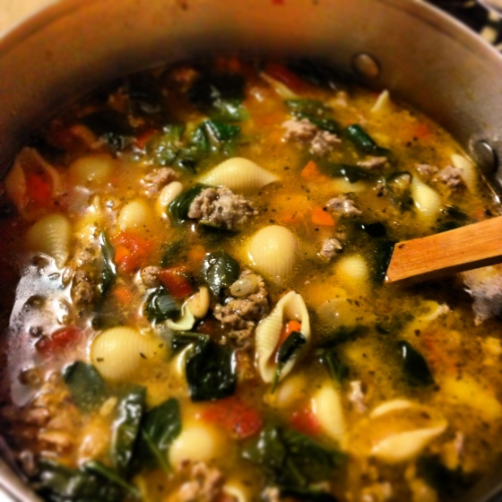 Tuscan Sausage White Bean Soup